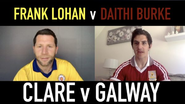 Journalist Shane Stapleton and Michael Verney talking about Galway and Clare