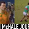 Liam McHale playing basketball and playing football for Mayo